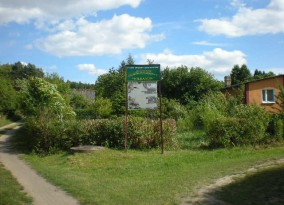 Tablica na ogrodzie A